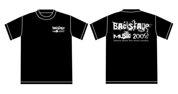 Camiseta Backstage Music 2008