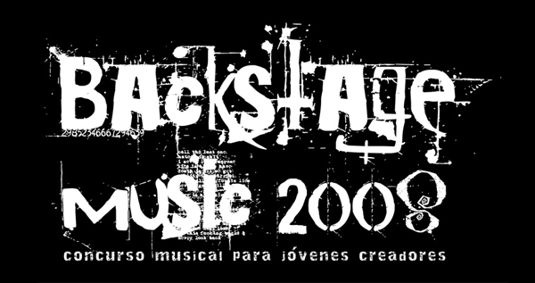 Logotipo Backstage Music 2008