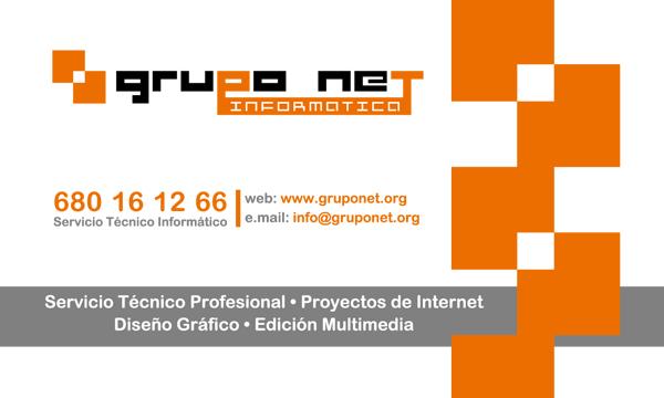 Tarjeta Grupo Net Informática