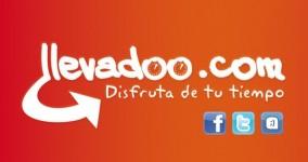 Diseño de flyer, pegatina y tarjeta de visita para @llevadoo