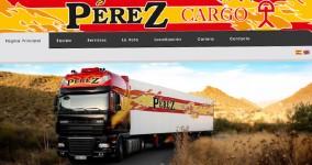 Diseño web Transportes Pérez Cargo
