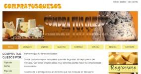 Diseño web tienda on-line compratusquesos
